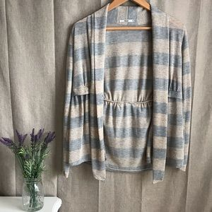 Papaya Open Front Cardigan Sweater neutral Size M